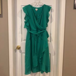 A New Day green wrap dress
